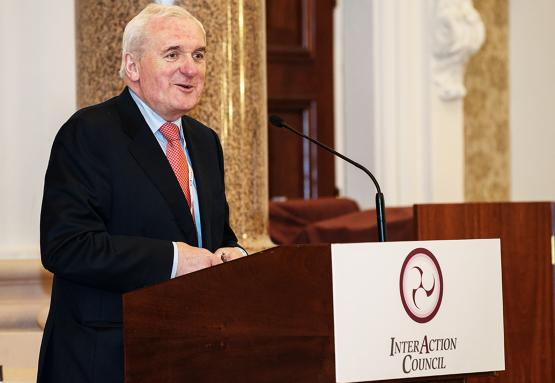 Bertie Ahern addresses the opening ceremony